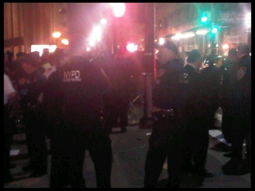 "quickhits:  NYPD Couterterrorism team at the #OccupyWallStreet protest. Apparently, calling for economic justice is ""terrorism"" now."