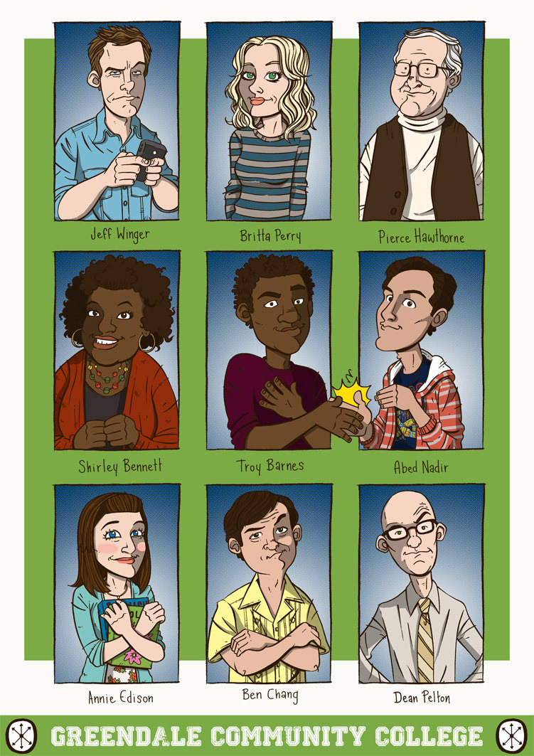 goldenmovieman:  Community by Stayte of The Art