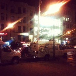 Really? Steve Jobs dies, so the news vans show up at… the Boylston Apple Store? (Taken with Instagram at Apple Store Boylston Street)