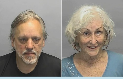 "Cops found Michigan couple in back seat of steamy Buick Regal  When the officer opened the vehicle's rear door and asked the nude couple what they were doing, Tim Adams offered a concise answer. ""I'm fucking this chick,"" he said. OCTOBER 5 (The Smoking Gun) — A naked 71-year-old woman and her equally clothes-free male companion, 54, were arrested last month for indecent exposure after a Michigan cop found them trysting in the back seat of a Buick Regal that was rocking gently and had its windows steamed over, according to a police report. When the officer opened the vehicle's rear door and asked the nude couple what they were doing, Tim Adams offered a concise answer. ""I'm fucking this chick,"" he said. Yes, Adams referred to his septuagenarian consort, Rita Daniels, as a ""chick."" According to a City of Farmington Police report, Daniels's 2002 Buick (license plate: DIVA 145) was in a shopping center parking lot, adjacent to a restaurant whose customers, including a 10-year-old-boy, apparently had a view of the illicit nighttime action on September 3. Officer Andrew Morche noted that the car's windows ""were covered with heavy condensation,"" and that Daniels was atop Adams ""and the two were engaged in sexual activities."" The pair was parked in a spot outside the restaurants Luigi's and Tre Sorelle. A police investigation determined that the couple's courtship was a brief one. They had met for drinks at a nearby bar ""before moving to the back seat of the Buick."" When questioned by cops, neither Daniels nor Adams—both of whom were unsteady and smelled of booze—knew the other's name. A Breathalyzer test recorded Daniels's blood alcohol content as .15, nearly twice the state limit. Daniels and Adams were busted for indecent exposure and disorderly intoxication and booked into the local jail, where they were held until sobriety returned. While in custody, cops noted, ""Adams decided to strip to his underwear."" Misdemeanor charges against Daniels and Adams, who are pictured in the above mug shots, are pending in Michigan's 48th District Court. Original Article"