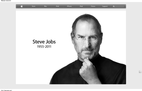 2011.10.06   Apple has lost a visionary and creative genius, and the world has lost an amazing human being. Those of us who have been fortunate enough to know and work with Steve have lost a dear friend and an inspiring mentor. Steve leaves behind a company that only he could have built, and his spirit will forever be the foundation of Apple.