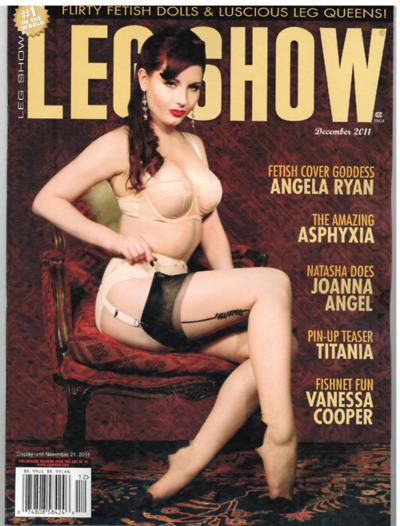 theangelaryan:  Cover of Leg Show December 2011 Model/MUA: Angela Ryan Photo: Viva Van Story Lingerie: What Katie Did (this is my 3rd Leg Show cover!!!)