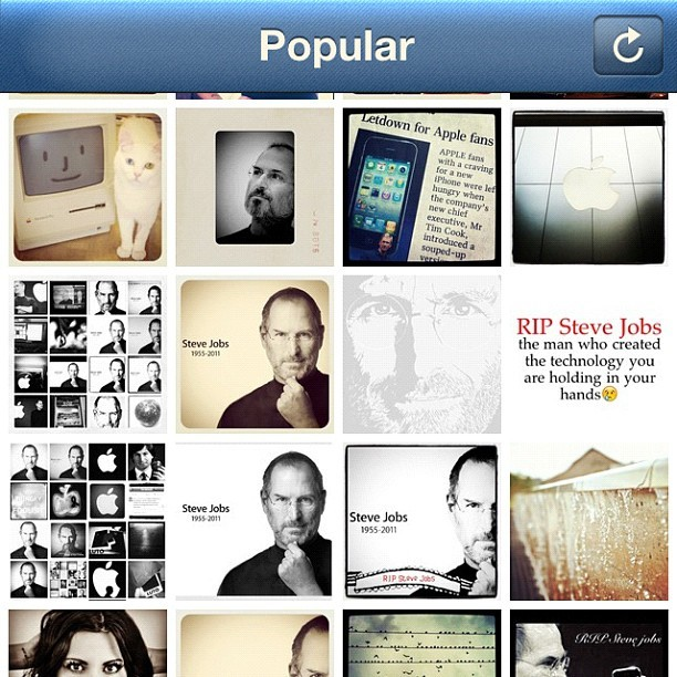 Thank you, Steve. This is the popular page right now on #instagram (Taken with instagram)