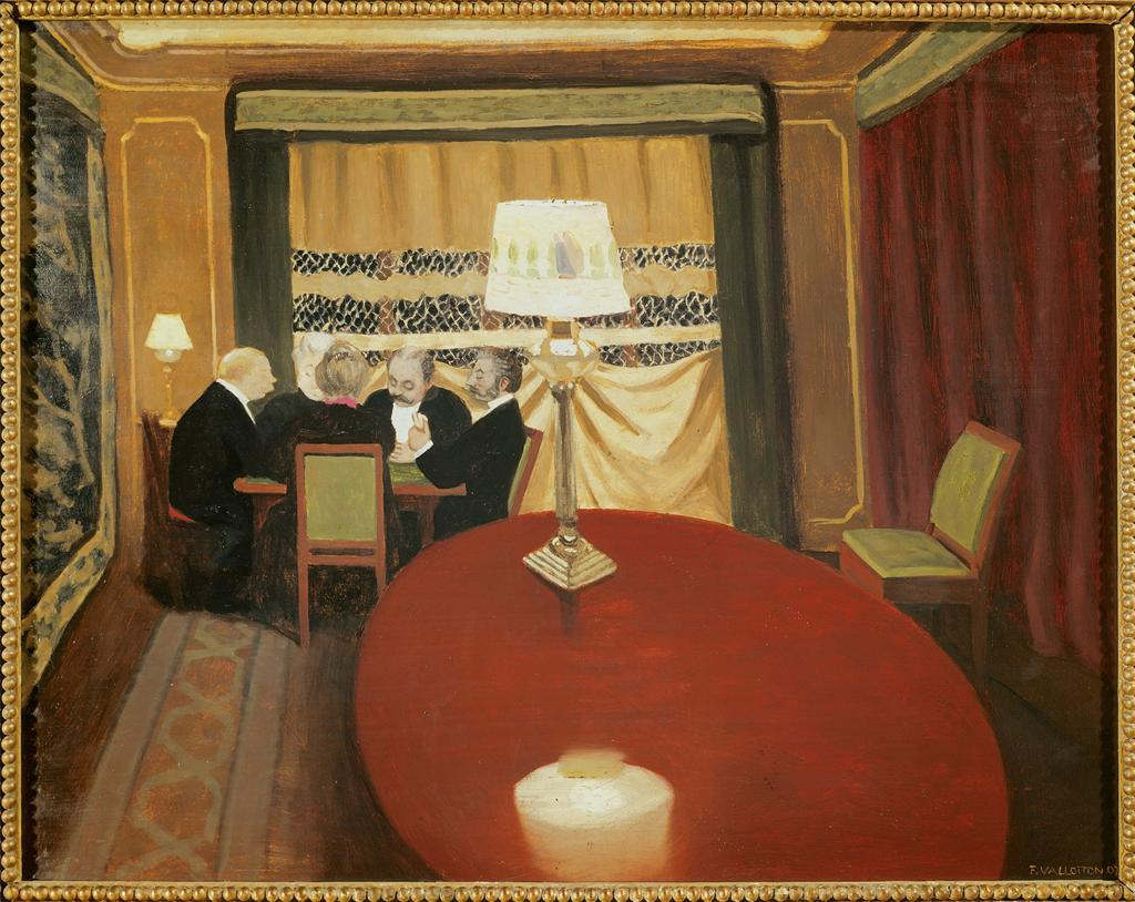 Poker Game 1902 Felix Vallotton