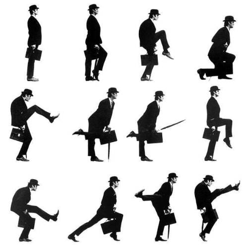 ramenrider:  i want to high five every single monty python surviving member before i die dellatinvortex:  the silly walk!