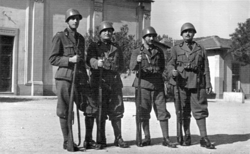 A group of Italian soldiers photographed in Rome sometime in 1941