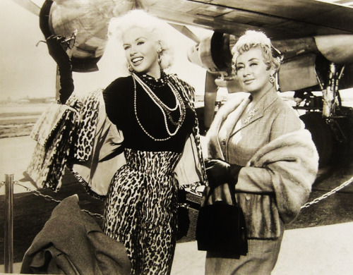 "vintagegal:  Jayne Mansfield and Joan Blondell in ""Will Success Spoil Rock Hunter?"" 1957"