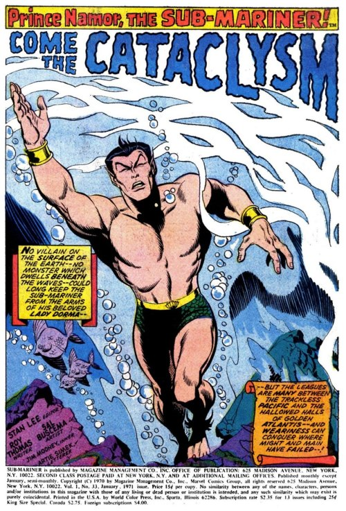 (via BOOKSTEVE'S LIBRARY: Silver Age Sub-Mariner Splash Page Sundays # 33)