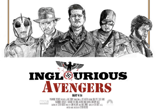 fuckyeahcaptainamerica:  hulkbuster:  INGLOURIOUS AVENGERS   WANT  I WILL DREAM ABOUT THIS TONIGHT.