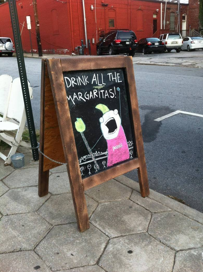 FRIDAY: DRINK ALL THE MARGARITAS!!!