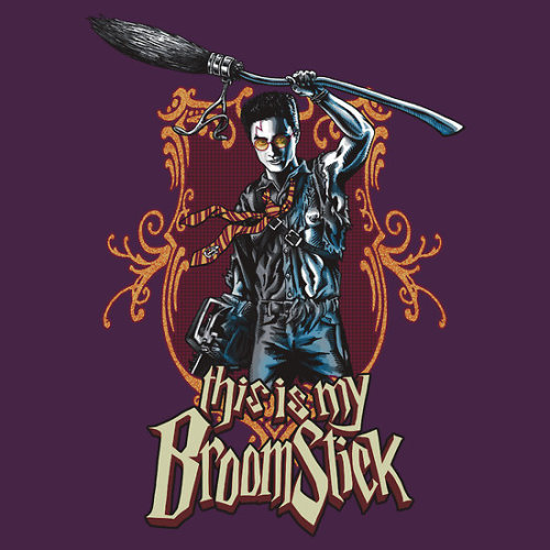 ianbrooks:  THIS IS MY BROOMSTICK!!! by Iordanis Lazaridis Shirt available at redbubble for $26.50 USD.