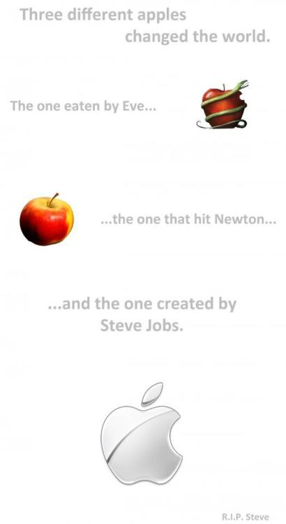 Three different apples that changed the world.