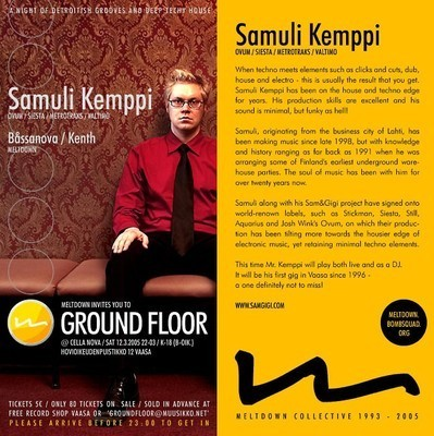 meltdowndjs:     Samuli Kemppi live pa @ Ground Floor, Vaasa, Finland 2005 by Samuli Kemppi