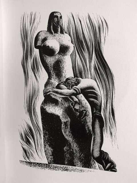 "Lynd Ward - Wood Engraving for ""Prelude to a Million Years"" 1933 by Thomas Shahan 3 on Flickr."