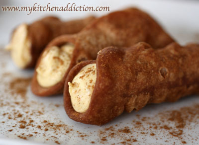 Bet you never had a Pumpkin Spice Cannoli. Go on…get adventurous and give it a try!