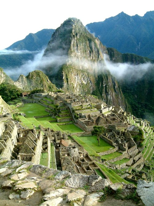 latitudesnlongitudes:  Sunrise at Machu Pichu, Peru
