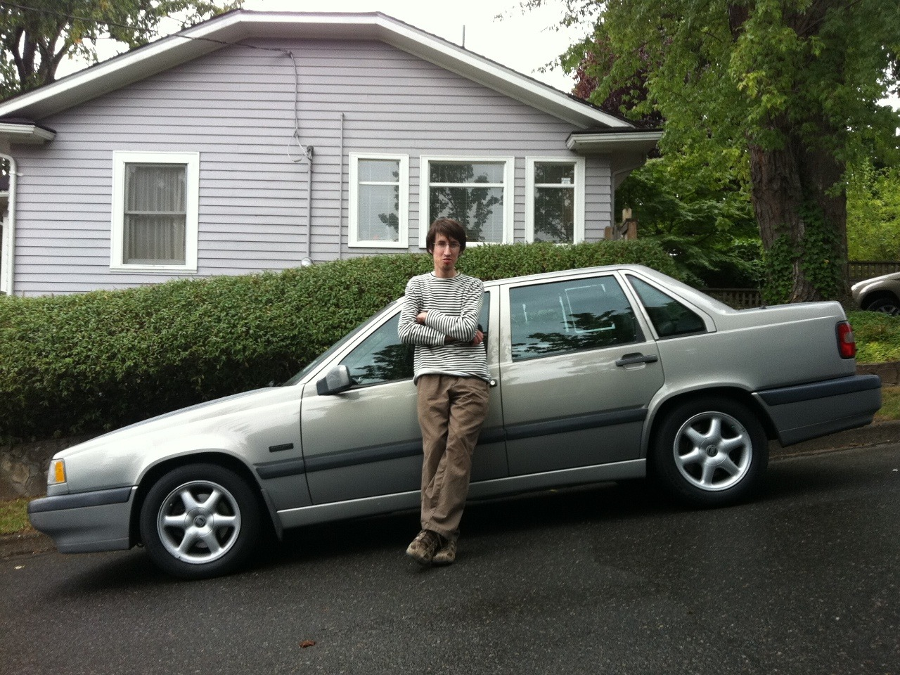 My brother and his very first car.