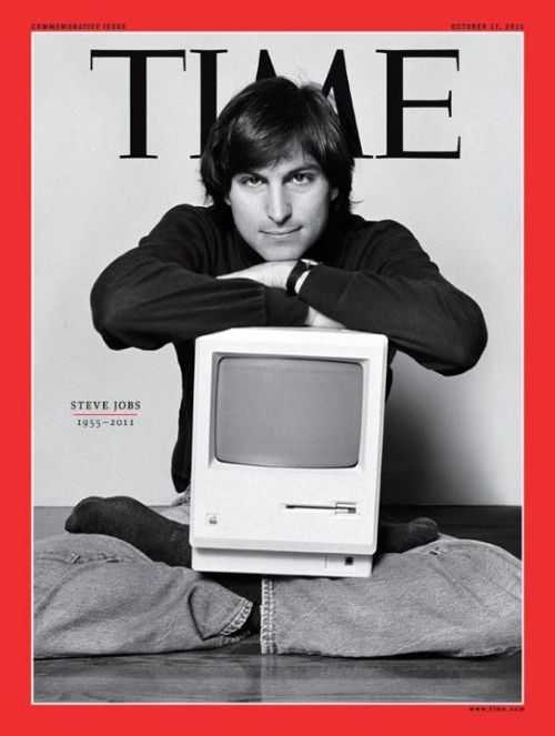 "timemagazine:  ""We were just sitting, talking about creativity and everyday stuff. I was beginning to build a level of intimacy with him, and then he rushed off, and came back in and plopped down in that pose. He spontaneously sat down with a Macintosh in his lap. I got the shot the first time. We did do a few more shots later on, and he even did a few yoga poses—he lifted his leg and put it over his shoulder—and I just thought we were two guys hanging out, chatting away, and enjoying the relationship. It wasn't like there was a conceptualization here—this was completely off the cuff, spontaneity that we never thought would become a magazine image."" - Photographer Norman Seeff reflects on his iconic image of Steve Jobs, now featured on the cover of our special edition issue commemorating the life of the late Apple CEO."
