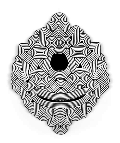 !!! Freegums aka Alvaro Ilizarbe newest inspiration… tribal geometric pattern monster