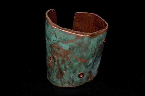 sandybuffiedesigns:  New metal cuff made from a gutter!!