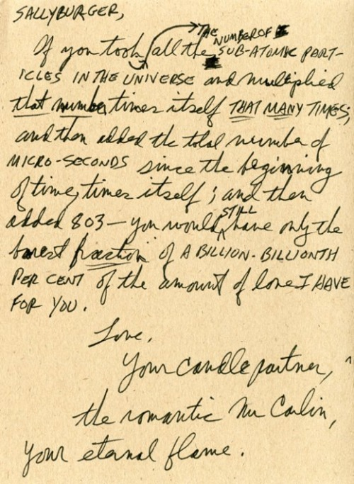 Love Letter From George Carlin to His Wife