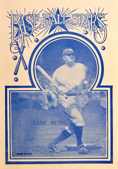 Baseball Stars 1920's Babe Ruth Notebook Cover