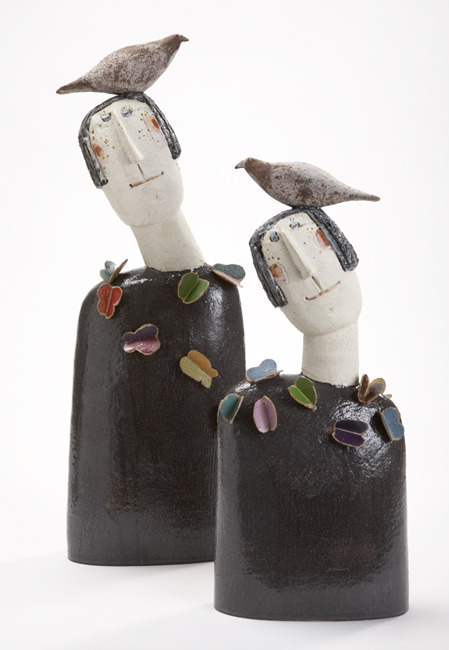 'Bird Head Butterflies' - Jane Muir - Beaux Arts Gallery