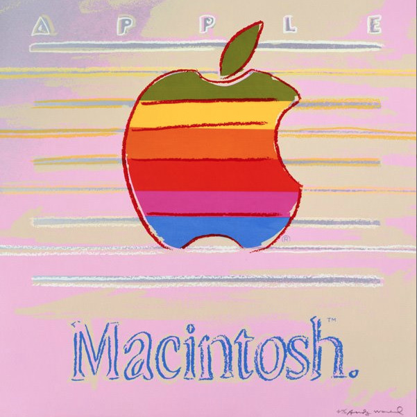 Apple, 1985Andy Warhol  RIP Steve Jobs