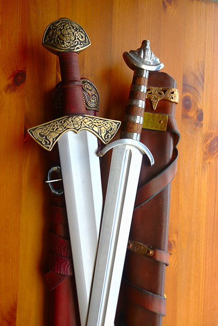 fuckyeahvikingsandcelts:  Viking Swords by Vometia on Flickr.