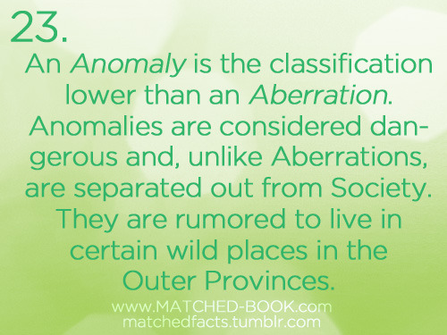 For an explanation of what an Aberration is, click here.
