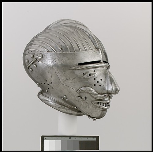 Helmet ca. 1520-1525 via The Metropolitan Museum of Art