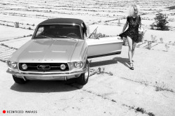 reinfriedmarass:  Ride Sally Ride - A woman, a Mustang … and a song by Wilson Picket. Listen here, one of these lonely mornings gonna' be wiping your weeping eyes. Lookey here, I bought you a brand-new Mustang, a nineteen-sixty-five. Now you come around, single, fine, woman and don't wanna let me ride. Mustang Sally, now baby, guess you better slow that Mustang down. You been running all over town, gotta put your flat feet on the ground. What I said now, let me say it one more time. Now all you wanna do is ride around Sally - Ride, Sally, Ride …