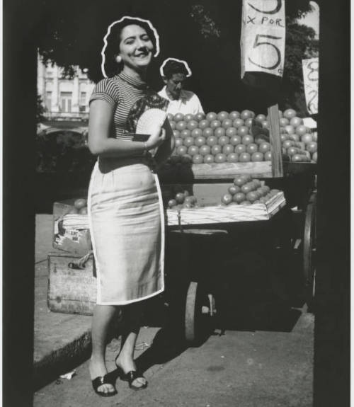 Rosa at the market - Havana 1956
