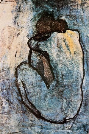 bongielove:  Picasso, Blue Nude, 1902. A print of this work hangs in my apartment. I saw it in person at the Musée de l'Orangerie in Paris and it blew my mind…