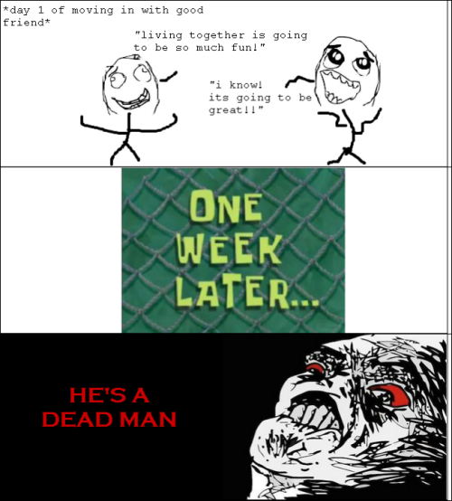 rage comic - roommates