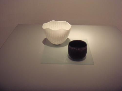 "Niisato Akio: Black Tea Bowl , 2008, Glazed porcelain, 5"" x 4 3/4"" / Keiko Gallery - Japanese artists"
