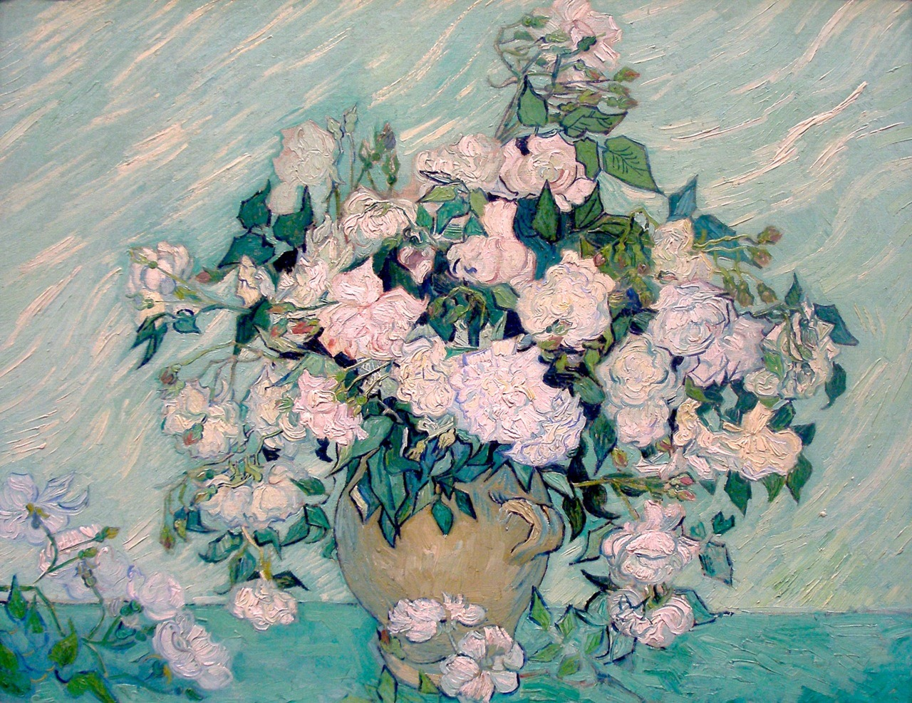 wryer:  White Roses, Vincent Van Gogh (1890)