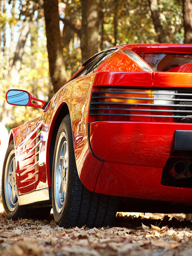 Leaf blower Starring: Ferrari Testarossa (by scott597)
