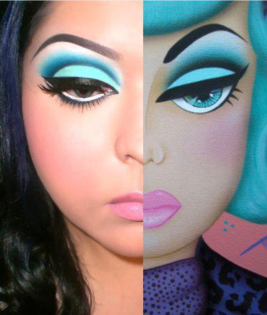 punkrockbetty:  Fabulous makeup…. Must. Do.