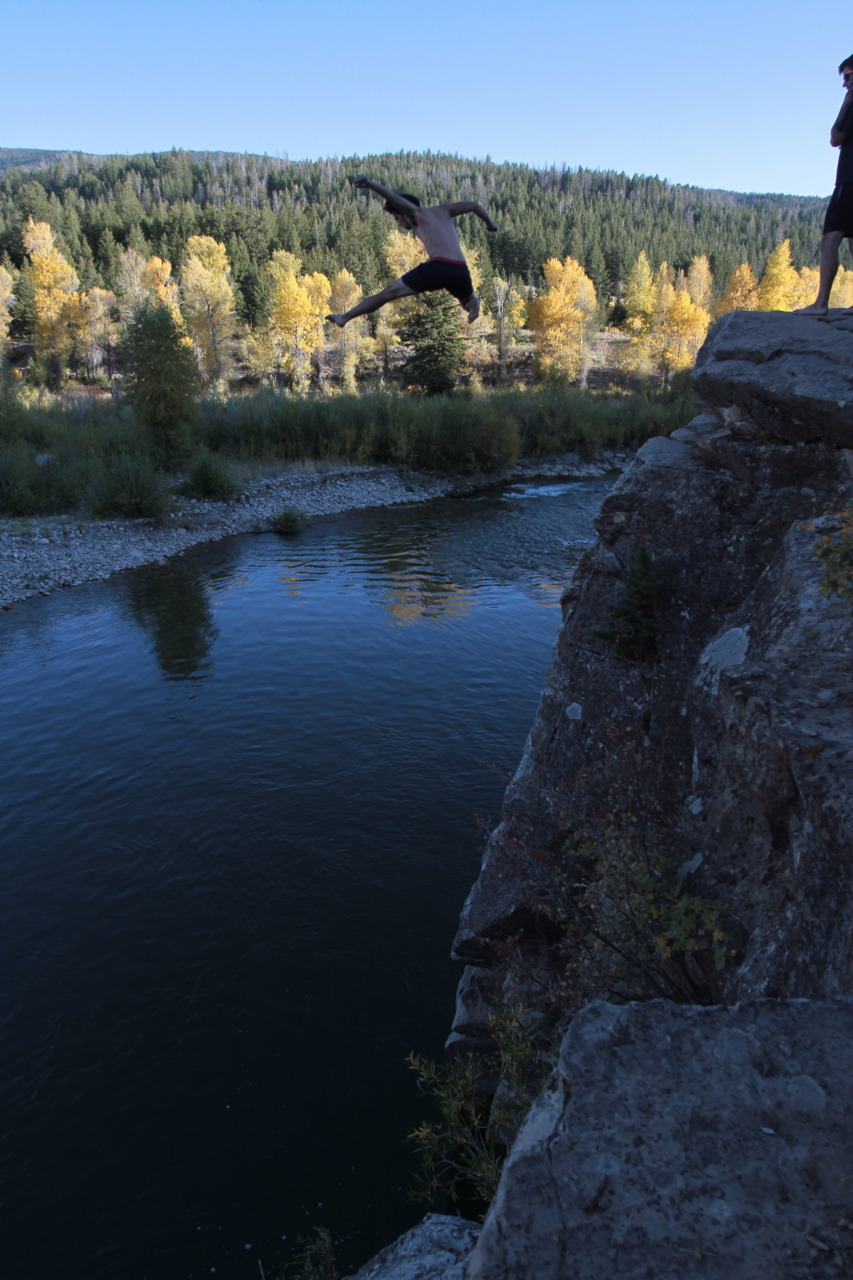 Cliff Jumping in Jackson, WY.