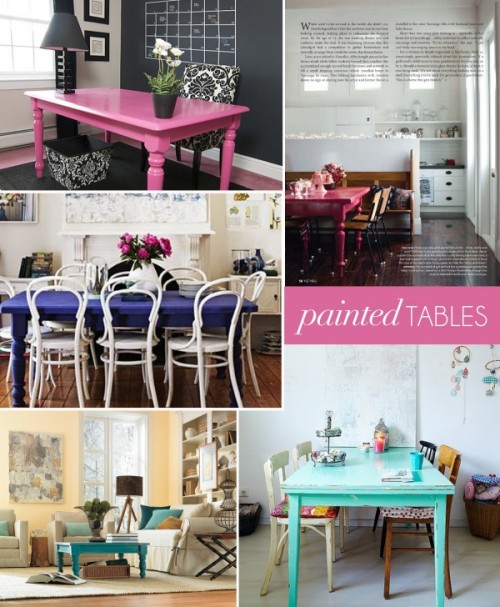 (via Interior Style File: Painted Tables | theglitterguide.com)