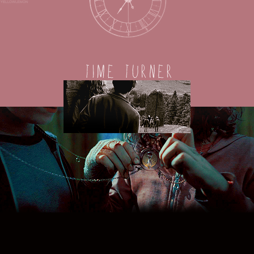 "HARRY POTTER ALPHABET ϟ  → T of  Time Turner""It's called a Time-Turner,"" Hermione whispered, ""and I got itfrom Professor McGonagall on our first day back. I've been usingit all year to get to all my lessons. Professor McGonagall made meswear I wouldn't tell anyone. She had to write all sorts of lettersto the Ministry of Magic so I could have one. She had to tell themthat I was a model student, and that I'd never, ever use it foranything except my studies…. I've been turning it back so I coulddo hours over again, that's how I've been doing several lessons atonce, see? But…"""
