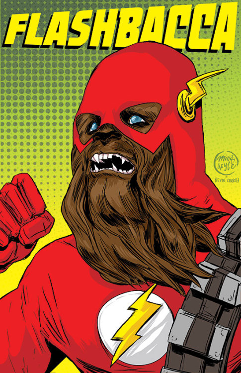 mingdoyle:  FLASHBACCA, The Fastest Wookiee Alive!