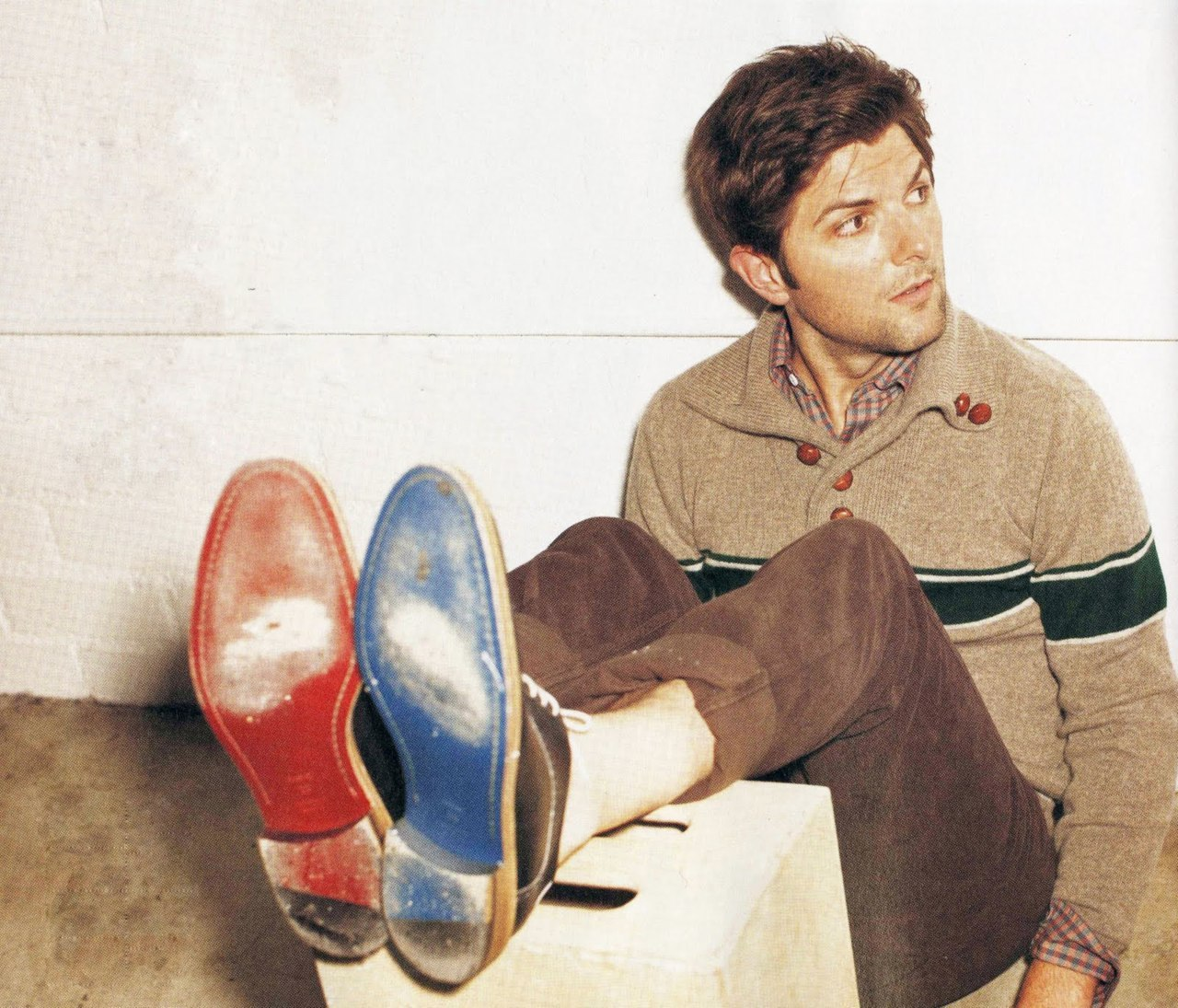 nickelcobalt:  Adam Scott in Band of Outsiders, Nylon, September 2011