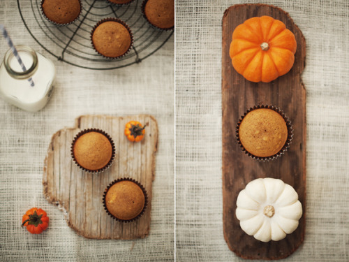 Just desserts! (via Athena Plichta - Photographer | journal | pumpkin muffins with cream cheese filling)