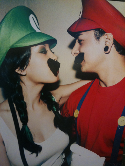 I know you don't like me in a mustache but this would be fun for Halloween.