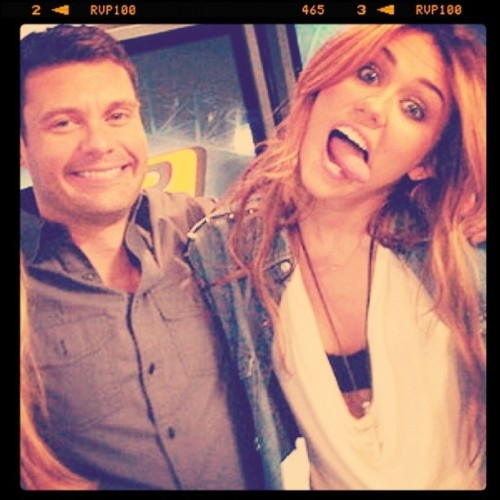 #mileycyrus #ryanseacrest haha love them :D @ryanseacrest (Taken with instagram)