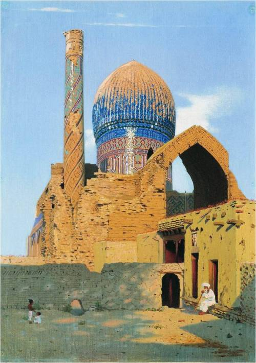 missfolly:  Gur-Emir Mausoleum. Samarkand, by Vasily Vereshchagin, 1869-1670