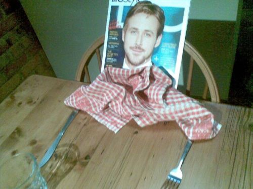 romantic dinner with ryan? ahahahaha