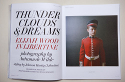 ELIJAH WOOD - LIBERTINE - FASHION STORY THUNDER CLOUDS & DREAMS 12 page story shot for LAB magazine